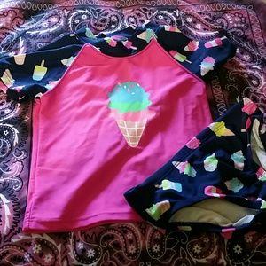Little girls swim suit